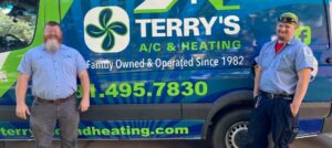 Rob Terry and Kenny Langford of Terry's A/C & Heating which serves Southwest Houston, Texas