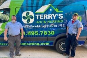 Rob Terry and Kenny Langford of Terry's A/C & Heating serving Richmond, Texas