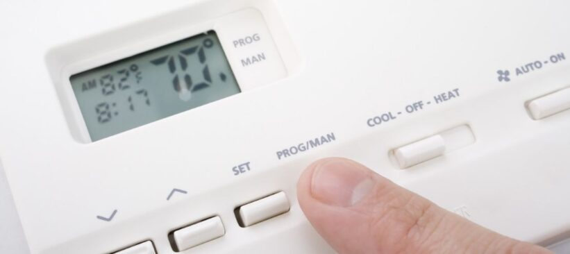 thermostat ac not blowing cool air